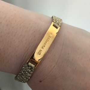 "Kate Spade gold ""On Purpose"" bracelet"